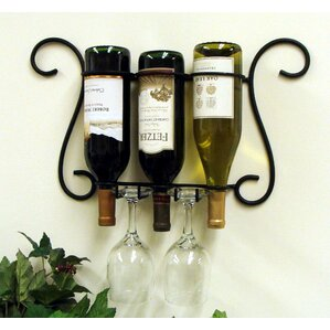 Metal Wall Wine Rack wine racks & wine storage you'll love | wayfair