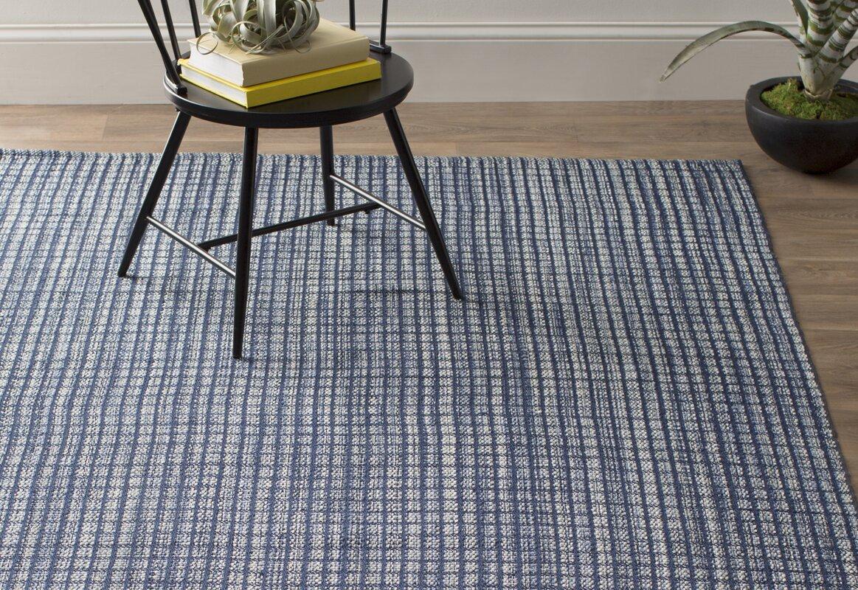 Dash and Albert Rugs Coco Hand-Woven Blue Indoor/Outdoor Area Rug ...