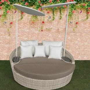 Carini Patio Daybed with Cushions by Ivy Bronx