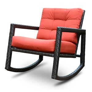 Aura Sunbrella Rattan Rocking Chair with Cushions