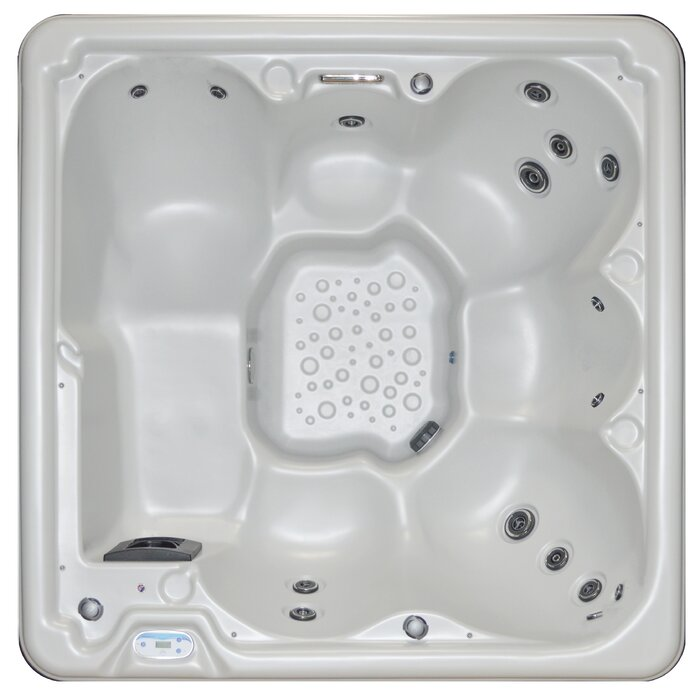 Cyanna Valley Spas 6-Person 17-Jet Plug Hot Tub w/Lounger and Waterfall
