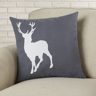 Birkholz Deer Cotton Throw Pillow