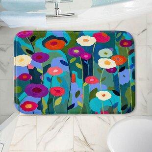 Buy clear Contemporary Flowers Memory Foam Bath Rug ByEast Urban Home