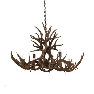 Loon Peak Scruggs Mule Deer 10-Light Novelty Chandelier