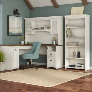 Oakridge Desk with Hutch and Bookcase Set