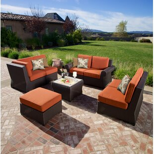 Holoubkov 8 Piece Sunbrella Sectional Group with Sunbrella Cushions