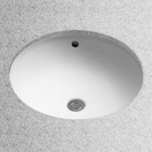 Toto Ceramic Circular Undermount Bathroom Sink with Overflow