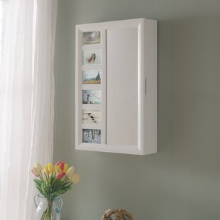 Tessa Wall Mounted Jewelry Armoire with Mirror