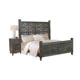 King Solid Wood Standard 2 Piece Bedroom Set by Dakota Fields