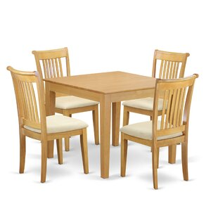 Cobleskill 5 Piece Breakfast Nook Solid Wood Dining Set Alcott Hill
