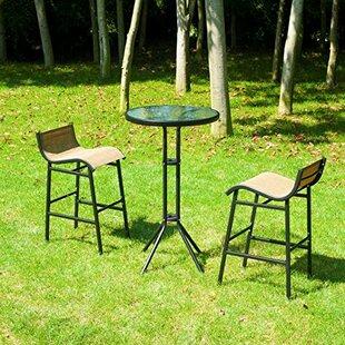 Ebern Designs Dowdy Outdoor 3 Piece Bistro Set