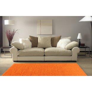 Armina Shag Orange Area Rug by Ebern Designs