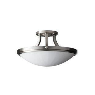 Clouser 2-Light Semi Flush Mount