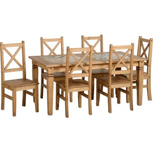 Read Reviews Jordie Dining Set With 6 Chairs