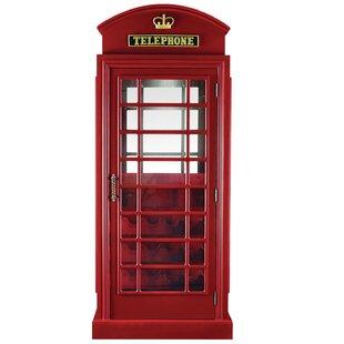 Latitude Run Marroquin Telephone Booth Bar Cabinet
