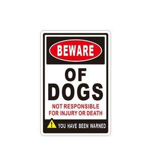 Aluminum Beware Of Dog Sign