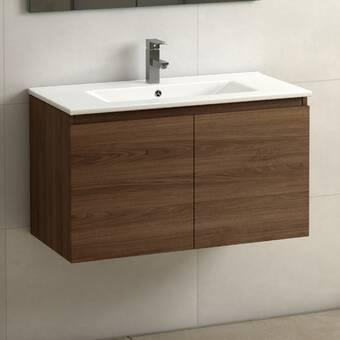 Mercury Row Altenburg 31 Wall Mounted Single Bathroom Vanity Set Reviews Wayfair