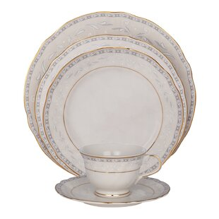 Spring Valley 5 Piece Ivory China Place Setting, Service for 1 (Set of 4)