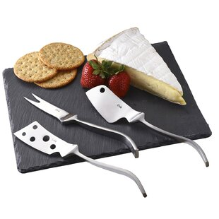 3 Piece Cheese Knives/Board Set
