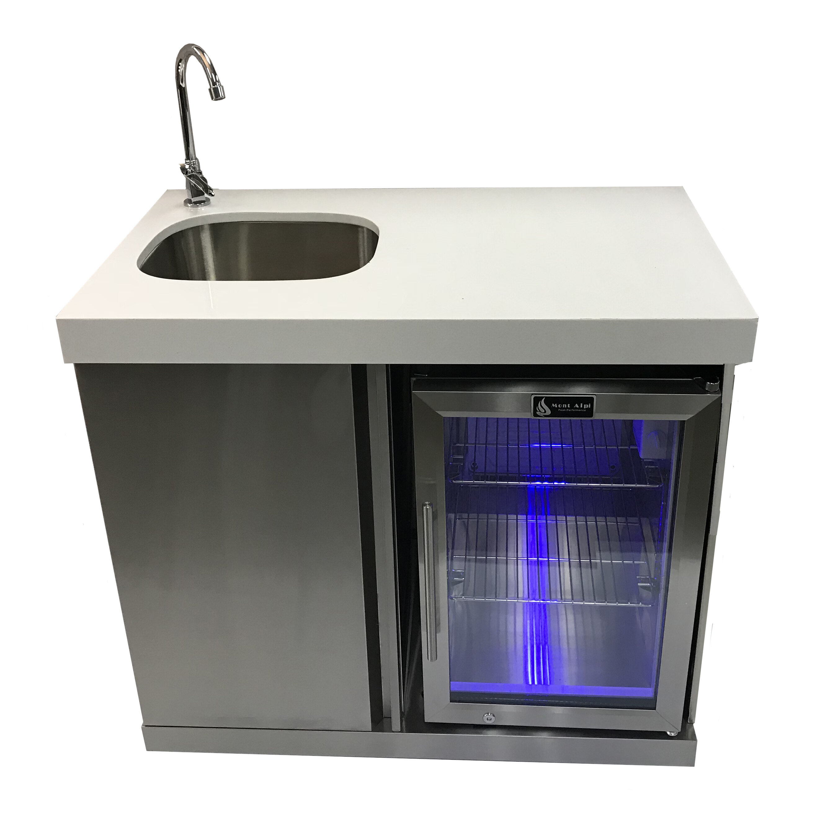 Outdoor Bar Center With Sink And Fridge