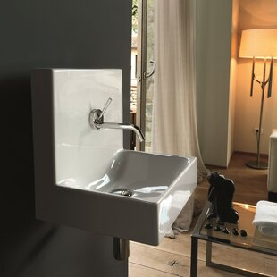 Looking for Cento Ceramic 16 Wall Mount Bathroom Sink with Overflow ByWS Bath Collections