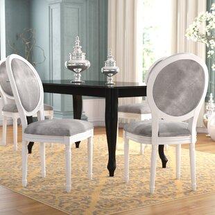 Rosdorf Park Jamar Velvet Upholstered Dining Chair (Set of 2)