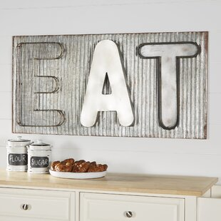 eat sign for kitchen Metal Eat Sign | Wayfair eat sign for kitchen