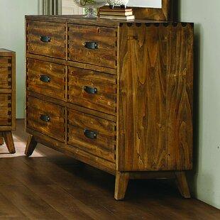 Brayden Studio Decamp 6 Drawer Double Dresser
