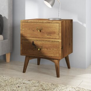 Carmelita 2 Drawer Bedside Table By George Oliver