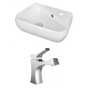 Specialty Ceramic Specialty Vessel Bathroom Sink with Faucet and Overflow By American Imaginations