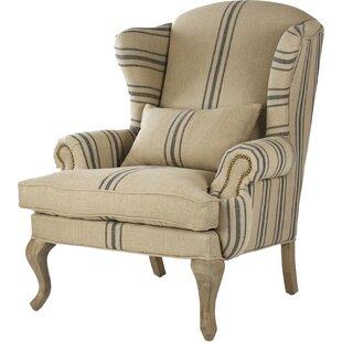 Zentique Zacharie Wingback Chair