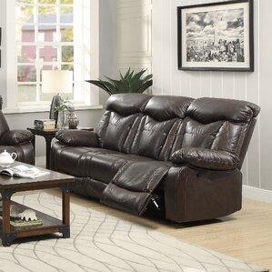 Bonenfant Leather Reclining Sofa by Red Barr..