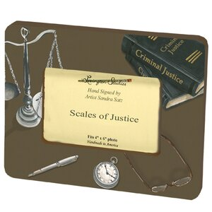 Home and Garden Scales of Justice Picture Frame