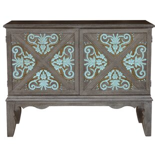 Ophelia & Co. Hartnett Traditional Decorative Boot Uppers Inspired 2 Doors Accent Bar Cabinet