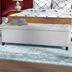 Three Posts Amalfi Upholstered Storage Be..