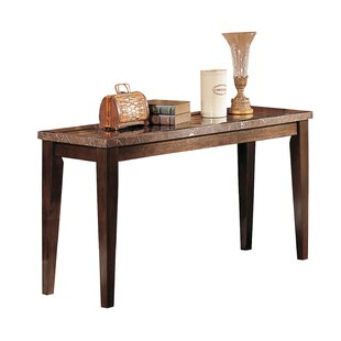 Winston Porter Matthes Wood and Marble Console Table