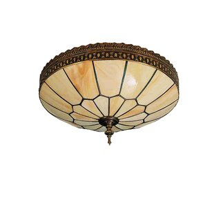Meyda Tiffany Vincent Honeycomb 3-Light Flush Mount