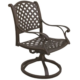 Waldron Swivel Patio Dining Chair (Set of 2)