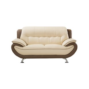 Shop Vickrey Leather Loveseat by Latitude Run