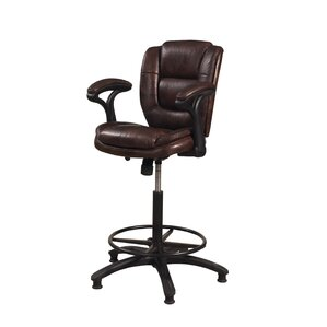 Attell Adjustable Height Swivel Bar Stool..