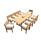 Lapidge 11 Piece Teak Dining Set
