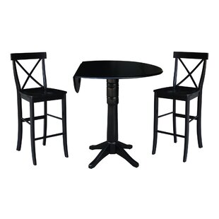 Boysen 3 Piece Adjustable Pub Table Set