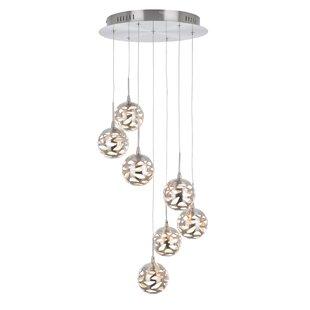 Ivy Bronx Amundson Suspended 7-Light LED Cluster Pendant
