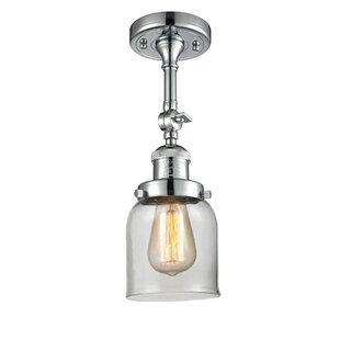 Fullilove Glass Bell 1-Light Semi Flush Mount by Ebern Designs