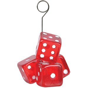 Casino Dice Photo/Balloon Holder (Set of 6)