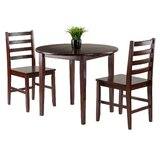Kendall 3 Piece Drop Leaf Wood Dining Set by Red Barrel Studio®