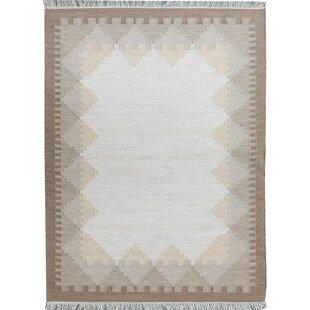 Ronnie Handmade Kilim Wool Sand Rug by Brick & Barrow