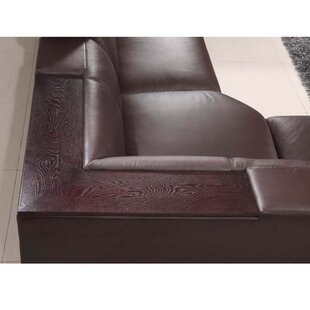 Shop Baratta Leather Reclining Sectional by Latitude Run