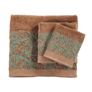 Grave Embroidered Wyatt 3 Piece Towel Set