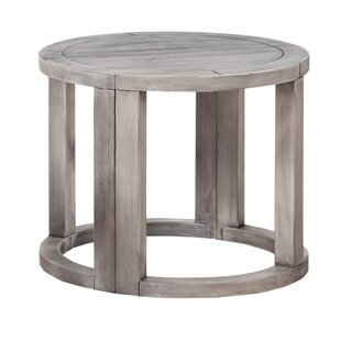Howze Solid Wood Half Moon End Table (Set Of 2)